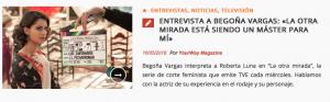 Begoña Vargas en Yourway Magazine