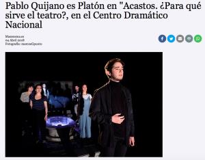 Pablo Quijano en Más Escena
