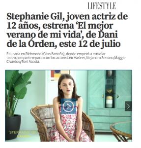 La actriz Stephanie Gil en La Razón