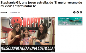 Stephanie Gil en Happy FM