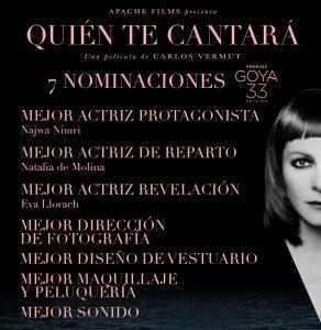 Quién Te Cantará - Premios Goya 2019